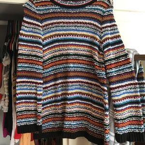 Multi Colored Cotton Sweater